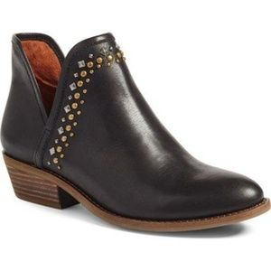 LUCKY BRAND Kendy Studded Bootie Black Leather